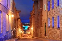 Quebec City gammal gata Royaltyfri Bild