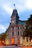 Quebec City gammal gata arkivbilder