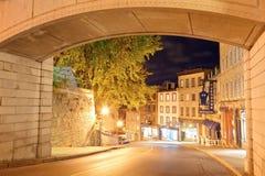 Quebec City gata Arkivbilder