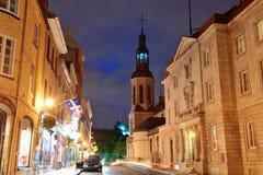 Quebec City gata Fotografering för Bildbyråer