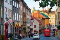 Quebec City gatasikt Fotografering för Bildbyråer