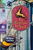 Quebec City gatasikt Arkivbild