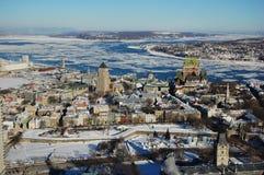 Quebec City in inverno, Canada immagine stock