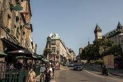 Quebec City Kanada 13 09 Liv för 2017 personer på delen för gata för St John ` s av den gamla skatten för arv för Quebec UNESCOvä Arkivbilder