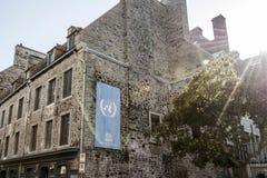 Quebec City Kanada 13 09 2017 ställe skatt för arv för Royale Royal Plaza och Notre Dame de Victories Church UNESCOvärld Arkivbilder