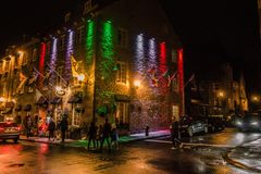 Quebec. Night life stock photography