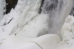 Quebec City: Montmorency ice waterfall Royalty Free Stock Photos
