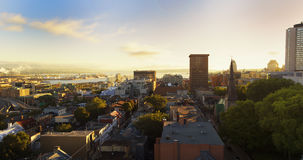 Quebec city in the morning Stock Images