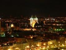 Quebec City nachts Stockfotografie