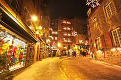 Quebec City at night Stock Images