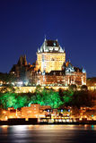 Quebec City at night Stock Photo