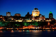 Quebec City at night Stock Photos