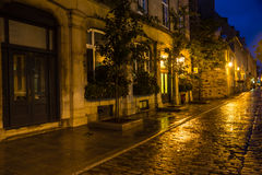 Quebec City Nightscape Royalty Free Stock Images