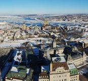 Quebec City no inverno Fotos de Stock Royalty Free