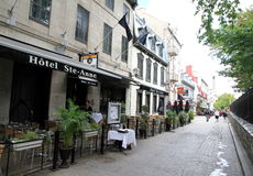 Quebec City Old Area Royalty Free Stock Photos