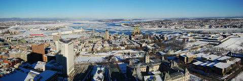Quebec City Panorama Royalty Free Stock Photo