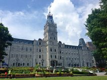 Quebec City parliament buildings and edible gardens, Canada Stock Photos
