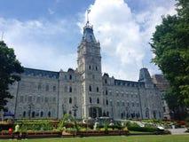 Quebec City parliament buildings and edible gardens, Canada. A view of Quebec's Hôtel du Parlement, or Parliament Buildings, the seat of the province's Stock Photos