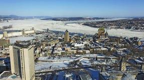 Quebec City pieno di sole Immagini Stock Libere da Diritti