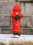 Quebec City: Red fire hydrant Stock Image