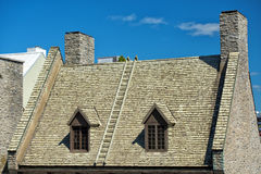 Quebec city roofs Royalty Free Stock Images