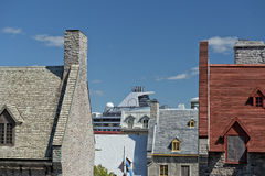 Quebec city roofs Stock Image
