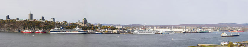 Quebec City skyline, panoramic view in autumn Royalty Free Stock Image