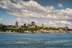 Quebec City som sett från Levis arkivfoton