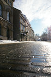 Quebec city spring. Spring in the street in old Quebec City, canada Stock Photos