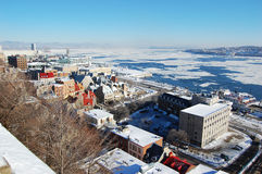 Quebec City and St. Lawrence River Stock Image