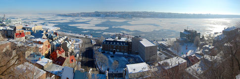 Quebec City and St. Lawrence River panorama Royalty Free Stock Images
