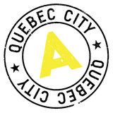 Quebec City stamp. Grunge design with dust scratches. Effects can be easily removed for a clean, crisp look. Color is easily changed Royalty Free Stock Photography