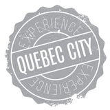 Quebec City stamp. Grunge design with dust scratches. Effects can be easily removed for a clean, crisp look. Color is easily changed Stock Photos