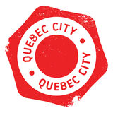Quebec City stamp. Grunge design with dust scratches. Effects can be easily removed for a clean, crisp look. Color is easily changed Royalty Free Stock Images