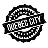 Quebec City stamp. Grunge design with dust scratches. Effects can be easily removed for a clean, crisp look. Color is easily changed Royalty Free Stock Photo