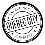 Quebec City stamp. Grunge design with dust scratches. Effects can be easily removed for a clean, crisp look. Color is easily changed Stock Image