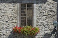 Quebec city stone house stock photos