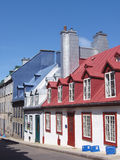Quebec city street. One of the colourful streets in quebec city Royalty Free Stock Photos