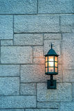 Quebec City street lamp Stock Photo