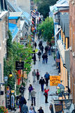 Quebec City Street View Royalty Free Stock Photography