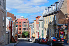Quebec City Street View Royalty Free Stock Photos