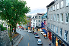 Quebec City Street View Royalty Free Stock Photo