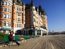 Quebec City tourist Stock Photography