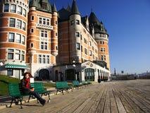 Quebec City tourist Stock Photography