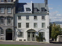 Quebec City Townhouse. Stone townhouses in Old Quebec City, Quebec, Canada stock photo