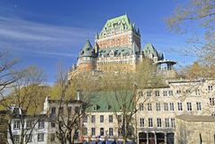 Quebec City View 2. This image was shot in Quebec City including the famous Chateau Frontenac, Canada and shows a beautiful architectural scene of the city Stock Photos