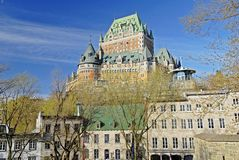 Quebec City View. This image was shot in Quebec City including the famous Chateau Frontenac, Canada and shows a beautiful architectural scene of the city Royalty Free Stock Photos
