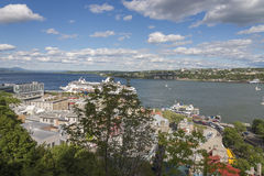 Quebec City View. Of St. Lawrence River and city skyline Stock Image