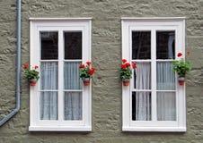 Quebec City Windows Stock Photo