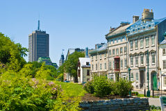 Quebec- Cityallee Str lizenzfreie stockfotografie